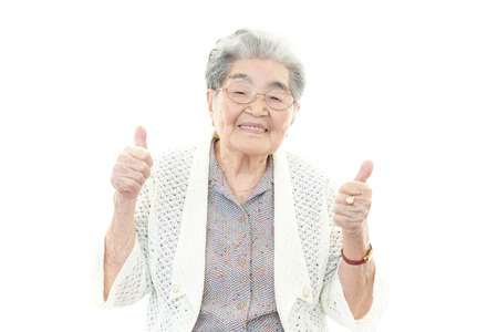 Smiling old woman photo