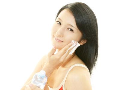 asian model: Relaxed beautiful woman  Stock Photo
