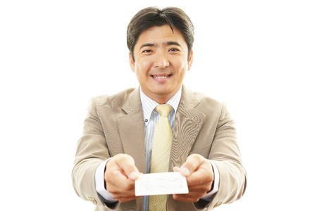 liveliness: Businessman Stock Photo