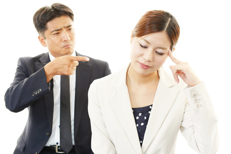 Dissatisfied businessman and businesswomen  photo