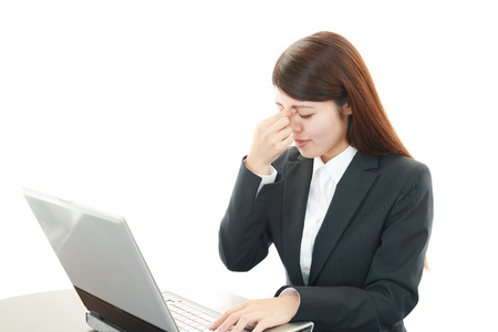 Young woman having a headache Stock Photo - 27882579