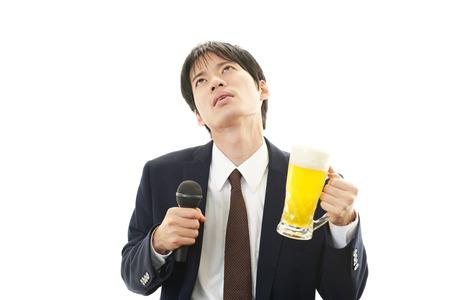 brash: Drunk businessman man with beer