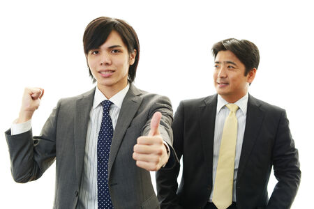 Smiling Asian businessmen photo