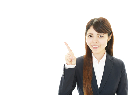 Portrait of a young business woman photo