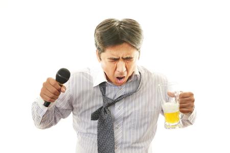 Drunk businessman  photo