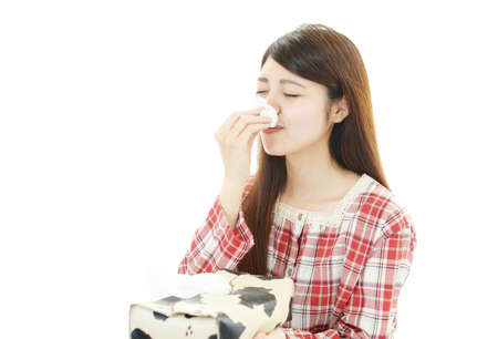 Woman having a cold Stock Photo - 28393208