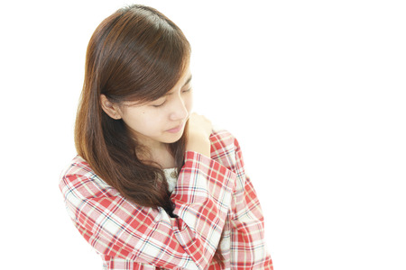 Tired and stressed young Asian woman Stock Photo - 28432699
