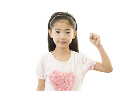 Happy Asian girl smile photo