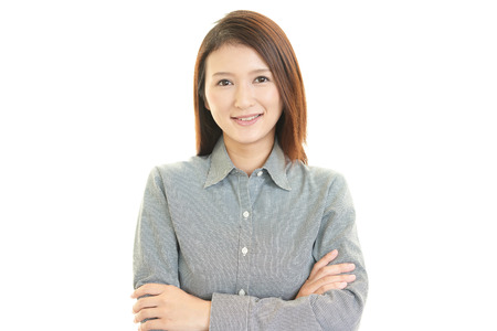Portrait of a young Asian woman 스톡 콘텐츠