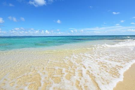 Summer sky and beautiful beach of Okinawa photo