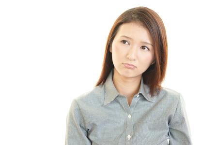 nespokojen: Nespokojený obchodní žena Reklamní fotografie
