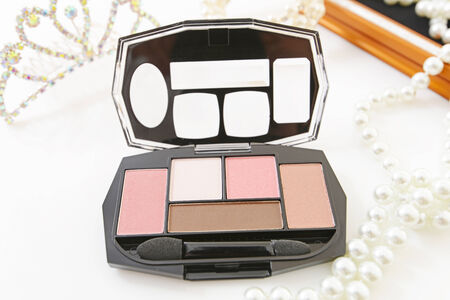 Makeup product isolated over white photo