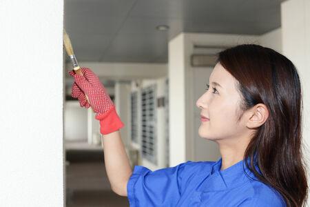 Working Asian female worker photo