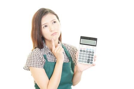 nespokojen: Nespokojený Asian hospodyňka