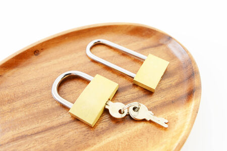 Padlock with key photo