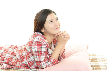 Relaxed young woman. photo