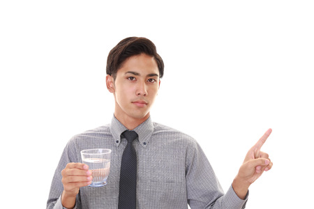 man drinking water: Man drinking water Stock Photo