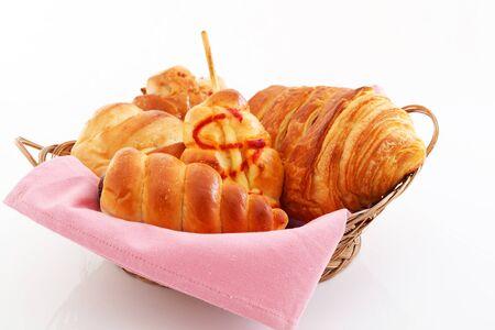 assort: Fresh and tasty breads Stock Photo