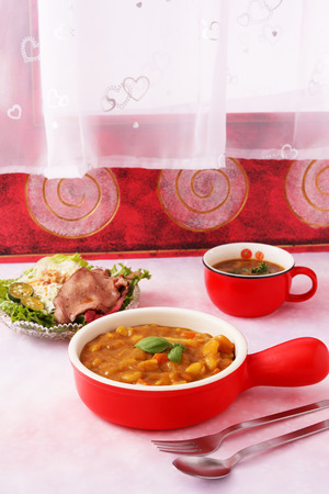 home cooked: dish, isolated, meal, plate, spice, kitchen, delicious, western, diet, isolation, chicken, studio, breakfast, restaurant, salad, traditional, curry, vegetable, dinner, eat, tasty, turmeric, supper, healthy, room, carrot, beauty, home, cooked, the cuisine, Stock Photo