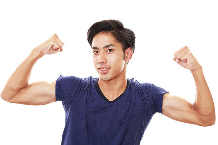 fit people: Man doing exercises
