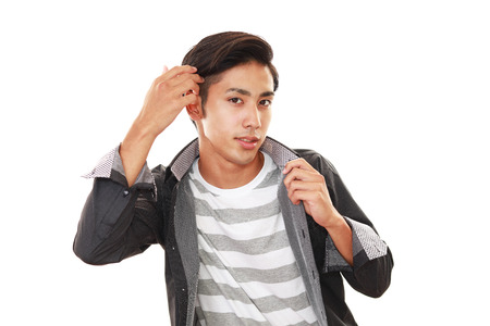 salaried: A man taking care of his hair