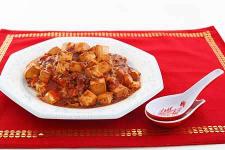 carne picada: Chinese cuisine, tofu and mince with hot spicy sauce
