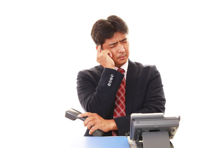 telephone salesman: Frustrated Businessman