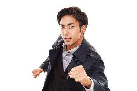 businessman running: Busy businessman running