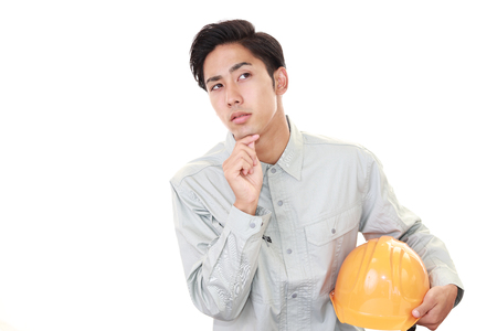 dissatisfied: Dissatisfied Asian worker