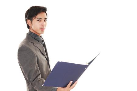 asian man face: Portrait of an Asian businessman
