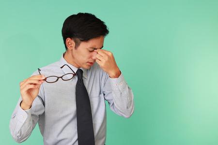 visage homme: Fatigué d'affaires Banque d'images