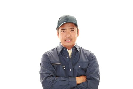 liveliness: Portrait of a worker Stock Photo