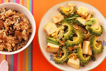 Okinawa cuisine Stock Photo
