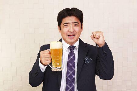 man drinking beer: Man drinking beer Stock Photo
