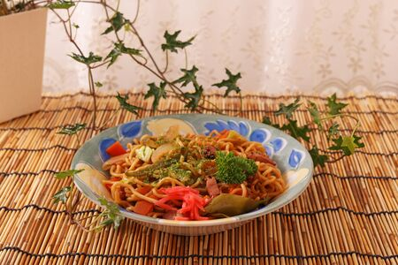 yakisoba: Japanese cuisine Yakisoba