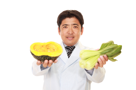 dietitian: A smiling registered dietitian Stock Photo