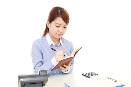 working woman: Working Asian business woman