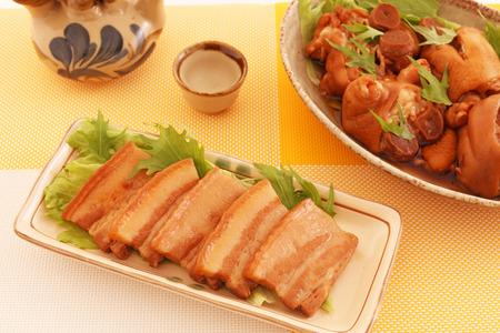 boned: Okinawan traditional sake with pork dish