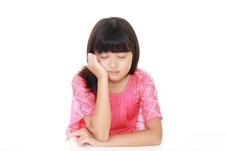 Disappointed Asian girl Reklamní fotografie