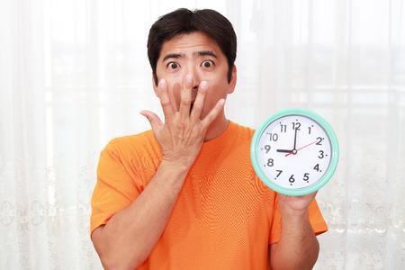 日本: Surprised Asian man 写真素材