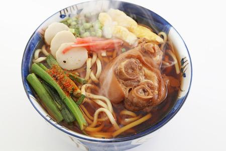 Okinawan cuisine, Okinawa soba Stock Photo