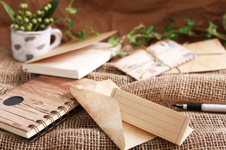 Envelope with writing paper Foto de archivo