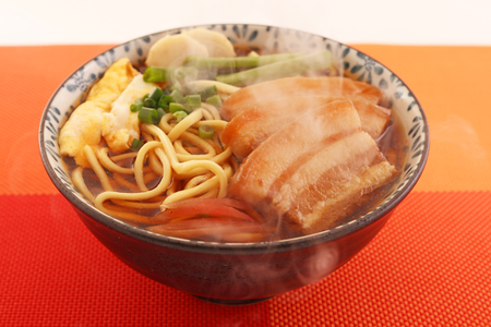 Okinawan cuisine, Okinawa soba Stock Photo