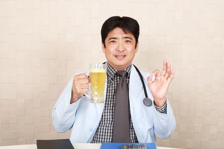 Doctor forbidding alcohol