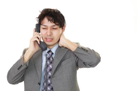 通信: Frustrated businessman 写真素材