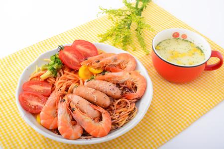 Delicious seafood spaghetti