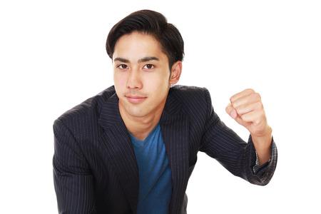 liveliness: Businessman enjoying success