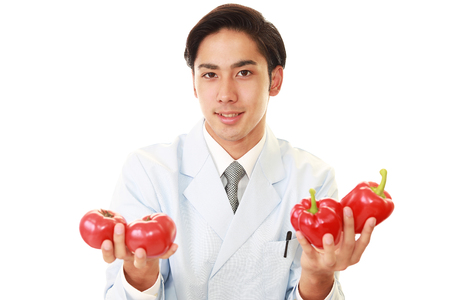 A smiling registered dietitian Stock Photo