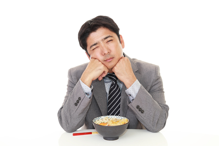tired businessman: Man has no appetite