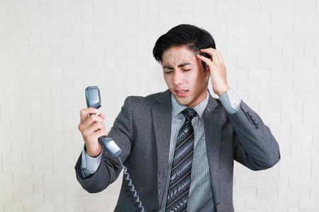 Gefrustreerde zakenman Stockfoto